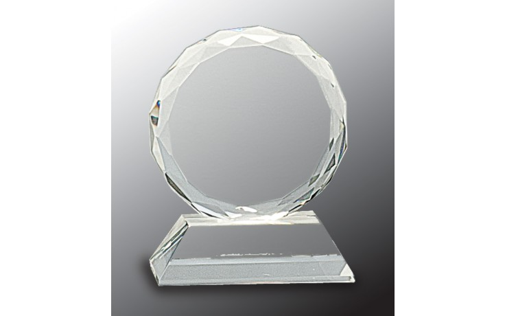 3 in. Round Crystal on Clear Base