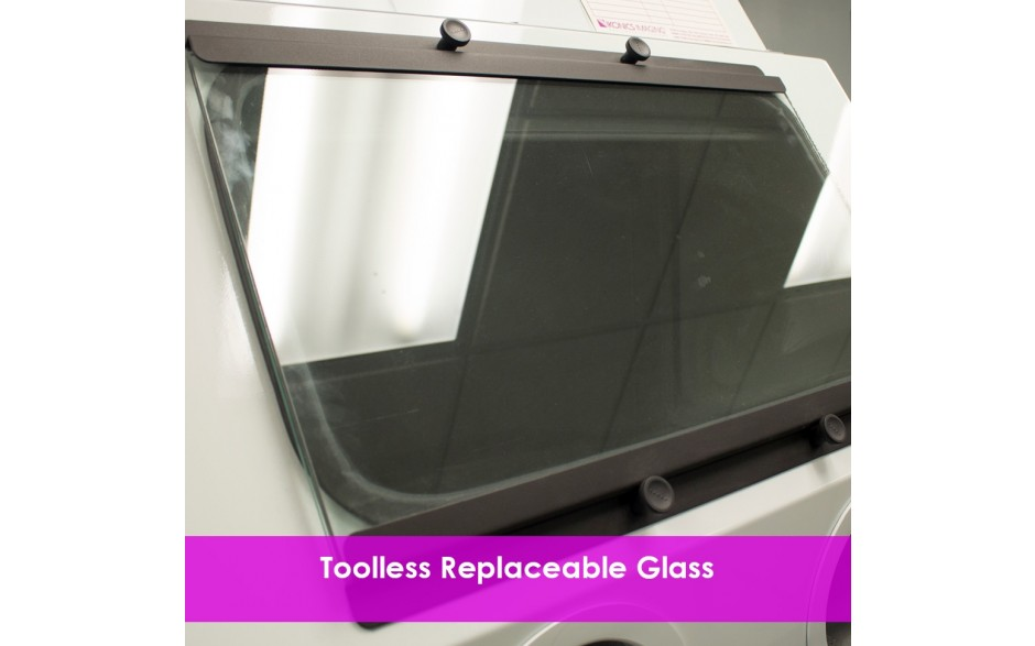 toolless replaceable glass