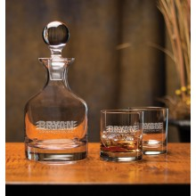 Classic Whiskey Decanter Set (3-Piece)