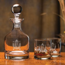 Classic Whiskey Decanter Set (5-Piece)