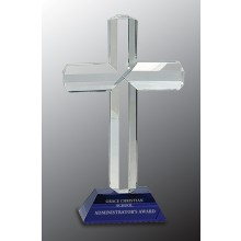 Crystal Cross on Blue Base