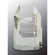 5 in. Crystal Octagon Tower