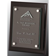 8 x 10 Black Piano Floating Glass Plaque