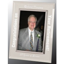 5 x 7 Glass Mirror Picture Frame, Silver Frame
