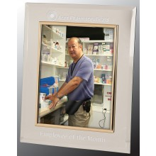 8 x 10 Glass Mirror Picture Frame, Gold Frame