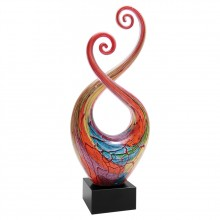 14 in. Multi-Color Twist Art Glass