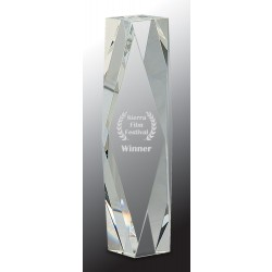 10 in. Crystal Facet Tower